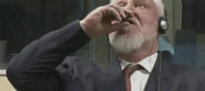 Bosnian Croat war crimes convict dies after taking 'poison' in UN court