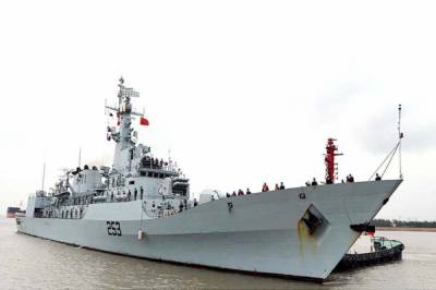 Pakistan Navy warship docks at Chinese port for bilateral war games with PLA Navy