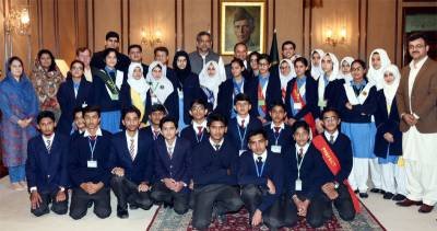 PM meets with school, college students