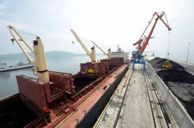 North Korean coal piles up as Russian product sails away