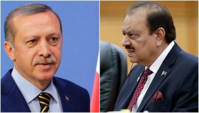 Tayyip Erdogan calls Pakistan President Mamnoon Hussian over Jerusalem issue