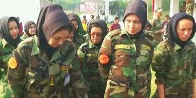 Afghan Army female officers start combat training in Indian Military Academy