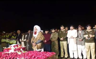 Lieutenant Abdul Moeed (shaheed) funeral prayers offered at ancestral village in Vehari