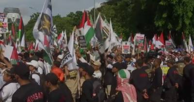 Protest held in Jakarta against Trump's decision on Jerusalem