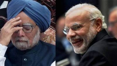 Awkward? PM Modi meets Manmohan Singh, days after accusing him of collusion with Pakistan