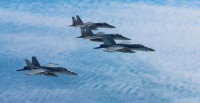 Japan air force drills with U.S. bombers near Korean peninsula
