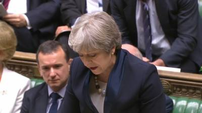 British PM defeated in parliament over Brexit blueprint