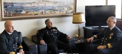 CNS admiral Zafar Abbasi calls on commander Turkish Naval academy