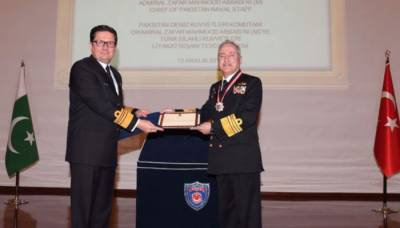 Naval Chief Admiral Abbasi awarded Turkish Armed Forces Legion of Merit