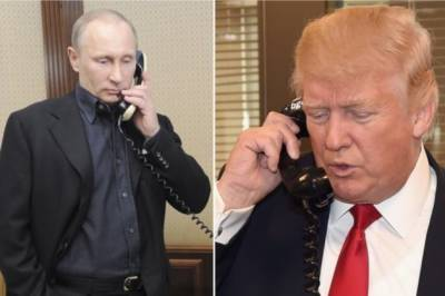 Donald Trump thanks Vladimir Putin in a phone call
