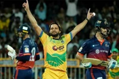 VIDEO: Shahid Afridi hattrick in the T10 League