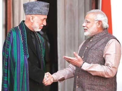Hamid Karzai meets Narendra Modi in New Delhi