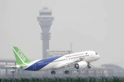China's C919 large passenger jet makes maiden test flight