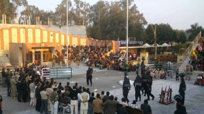 Another one of the highest flying flag hoisted at Pak India border at Ganda Singh Wala