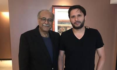 Shahid Afridi is all praise for Najam Sethi