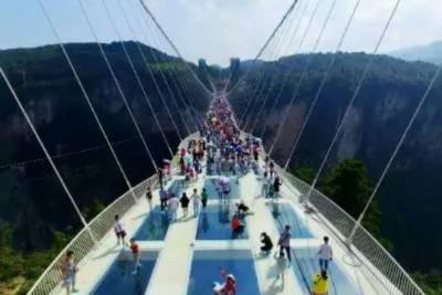World's longest glass bridge opens in China