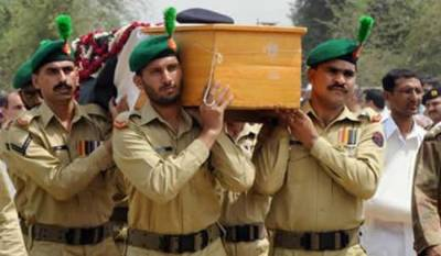 Funeral prayers of martyred soldier at LoC offered