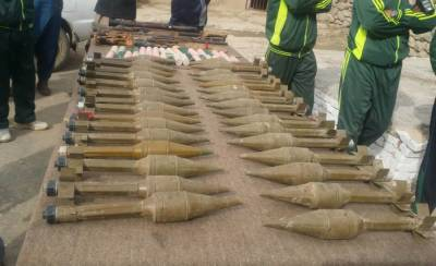 Security Forces seize huge weapons cache, hidden underground