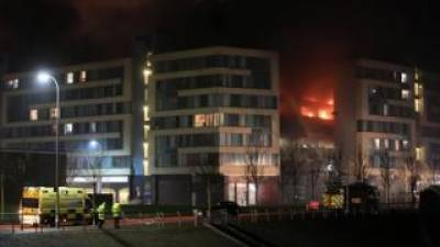 Hundreds of cars destroyed in Britain in a parking garage fire