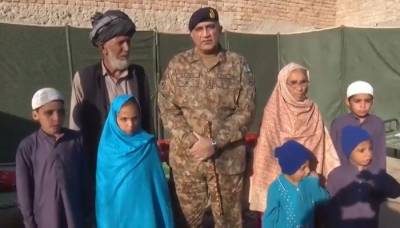COAS visits family whose five members have been martyred in war on terror