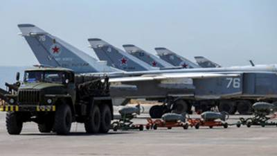 7 Russian planes destroyed by shelling at Syrian air base