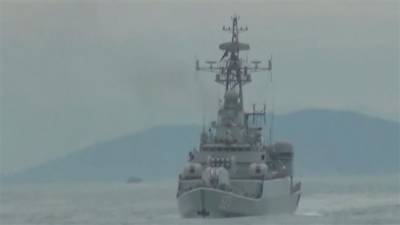 Chinese Navy warships launch real combat drills to hit enemy submarine