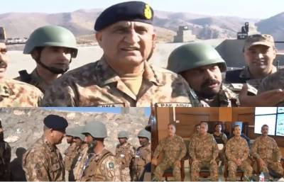 COAS inspects fencing along Pak-Afghan border