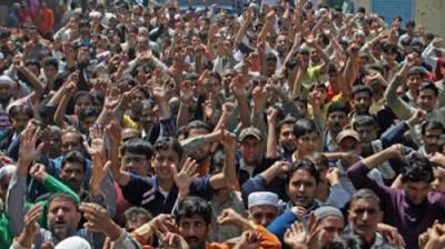 Massive anti India protests held in occupied Kashmir