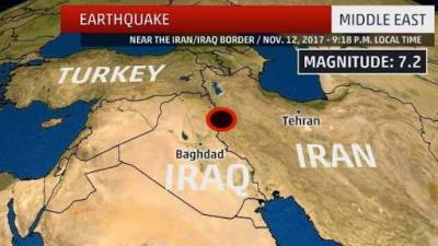 Middle East- Series of six earthquakes jolt Iran