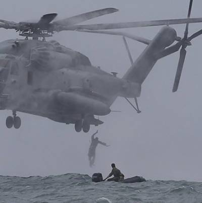 Indian Navy launches large scale rescue operation to search for missing chopper
