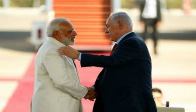 Netanyahu lands in Delhi in a first visit by an Israeli leader in last 15 years