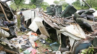 Cameroon bus crash kills at least 21, injures 38