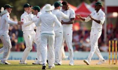 Nervous speedster Ngidi shines on test debut for South Africa
