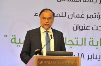 Ahsan calls for connecting Gwadar Port with Ports of Oman