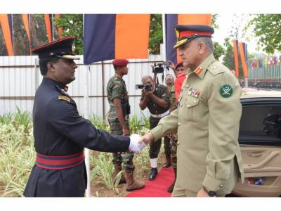 COAS General Qamar Bajwa arrives in Sri Lanka on invitation of his counterpart