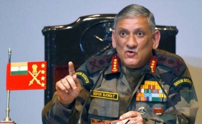 Indian Army Chief snubbed at home for controversial statement against national interest