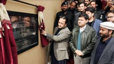 CM Gilgit-Baltistan inaugurates camp office in Juglot