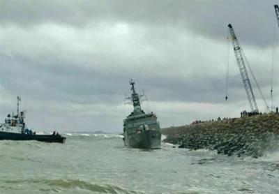 Iranian Navy warship crashes in Caspian Sea
