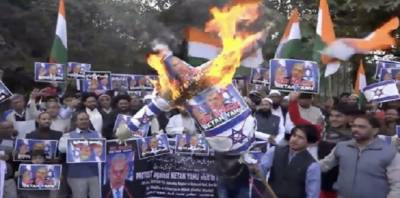 Large scale protests held in India on Israel PM's visit