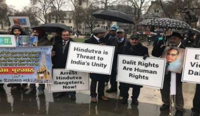 After Muslims and Sikhs now Indian Dalits stage protest in UK against Modi government