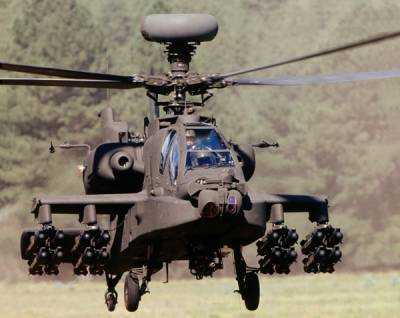 US Army Apache attack helicopter crashed