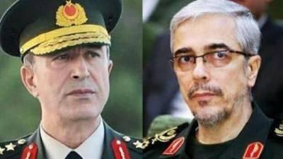 Iran Turkey Army Chiefs hold telephonic talk