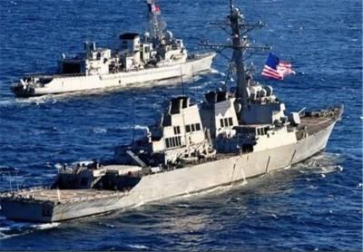 Iranian Military Aircraft warn US ships near the drill zone