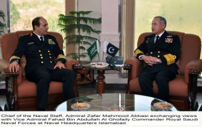 Pakistan Saudi Arabia Naval Chiefs vow to enhance strategic partnership