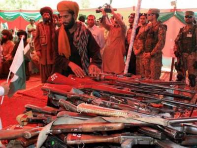 200 Baloch insurgents lay down arms in Turbat