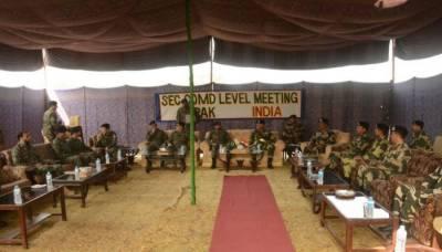 Pakistan Rangers, Indian BSF hold flag meeting along international border