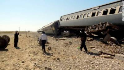 Bomb Blast at the Railways track, train derailed