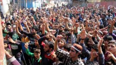 Kashmir rises against the martyrdom of its sons at hands of Indian Army