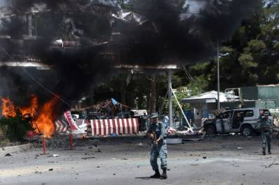Protests demonstrations outside Pakistan embassy in Kabul