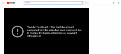 Why Pakistan government YouTube account has been terminated